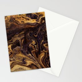 Chocolate and Gold Stationery Cards