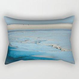 Blue sand of the sea Rectangular Pillow