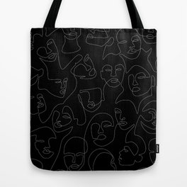 Face Lace Tote Bag