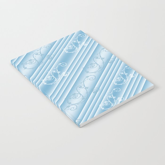 Elegant Swirl and Stripes Abstract Notebook