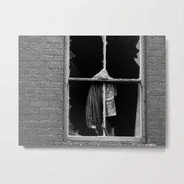 a broken window Metal Print