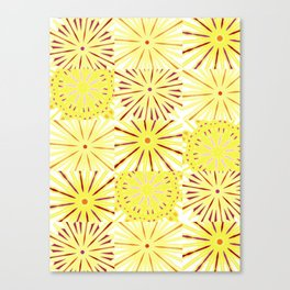 A starburst of sunflowers Canvas Print