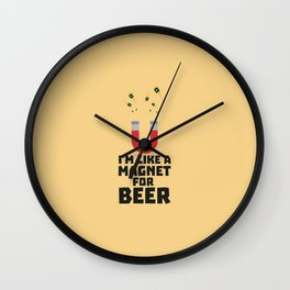Like a Beer Magnet T-Shirt for all Ages Duq5z Wall Clock