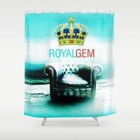 gem Shower Curtains featuring Royal Gem by Azeez Olayinka Gloriousclick