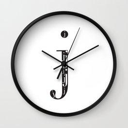"""j-ception - The Didot """"j"""" Project Wall Clock"""