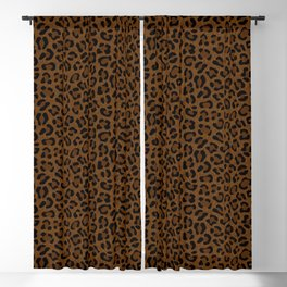Leopard Print - Dark Blackout Curtain