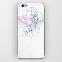 sandra dieckmann iPhone & iPod Skins featuring Sandra by MENAGU'