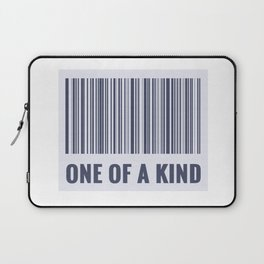One of a kind - barcode quote Laptop Sleeve