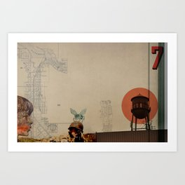 WaterTower Art Print