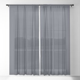 Sherwin Williams Trending Colors of 2019 Charcoal Blue (Dark Blue) SW 2739 Sheer Curtain