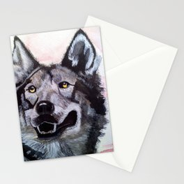Wolf in Red Stationery Cards