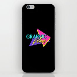 Graphic Wave / 80s Retro iPhone Skin