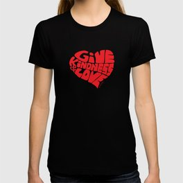 GIVE KINDNESS & LOVE - red T-shirt