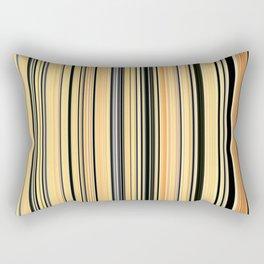 High Society Vintage Yellow Black White Stripes 001 Rectangular Pillow