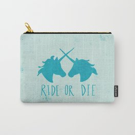 Ride or Die x Unicorns x Turquoise Carry-All Pouch