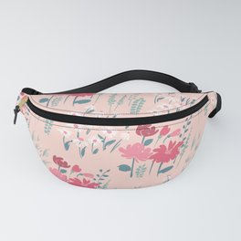 Pink Mint Meadow Florals Fanny Pack