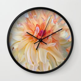 Dancing Dahlia Wall Clock