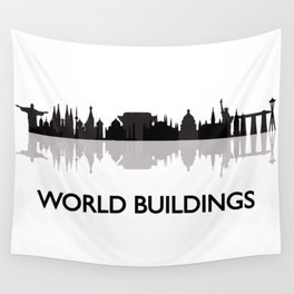 world skyline Wall Tapestry