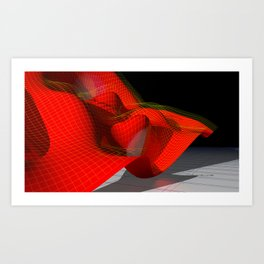 Waved red surface Art Print