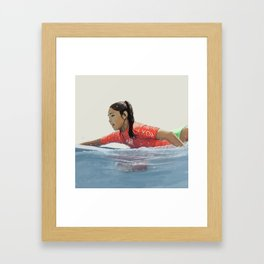 Roxy surf girl Framed Art Print