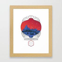 Helmet I (Red Space) Framed Art Print