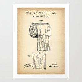 Toilet Paper Roll Vintage Art Print