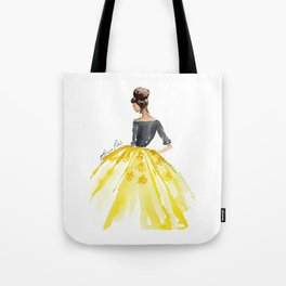 Sunny Spring Yellow Skirt Fashion Illustration Tote Bag
