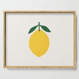 Lemon Citrus Serving Tray