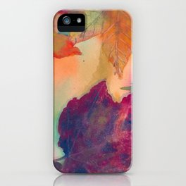 Falling Autumn Leaves in New England iPhone Case