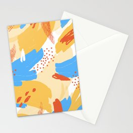 Yellow Abstraction Stationery Cards