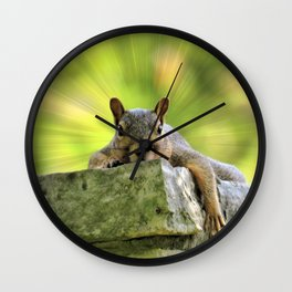 Relaxed Squirrel Wall Clock