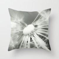 dandelion Throw Pillows featuring dandelion by Falko Follert Art-FF77