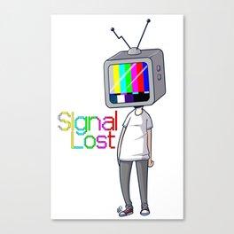 Signal Lost Canvas Print