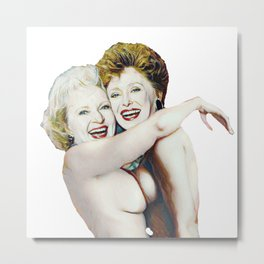 Golden Girls- Blanche & Rose Metal Print