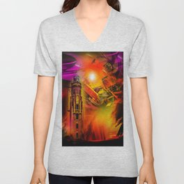 Lighthouse romance Unisex V-Neck