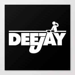 DeeJay 2 Music Quote Canvas Print