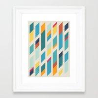 quilt Framed Art Prints featuring Quilt by Evan Hinze