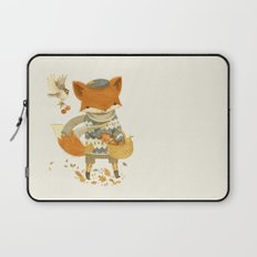 Fritz the Fruit-Foraging Fox Laptop Sleeve