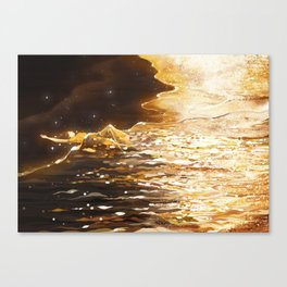 Quilt of Sunset Canvas Print
