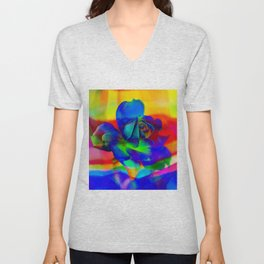 Rose Playing with Textures Unisex V-Neck