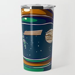 Astronaut Helmet - Satellite and the Moon Travel Mug