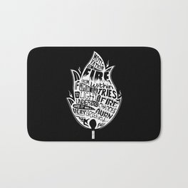 Lab No. 4 Chances Will Burn Very Briefly Stephen R. Covey Motivational Quotes Bath Mat