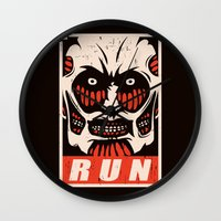run Wall Clocks featuring Run by le.duc