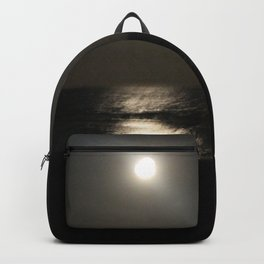 Moon Rise over Black Water Backpack