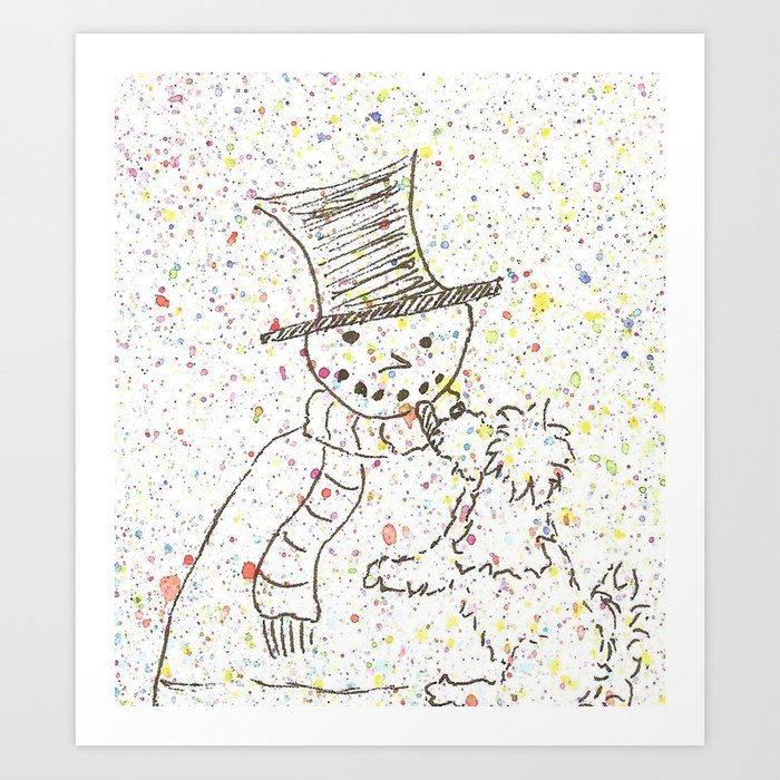 Winter fun Art Print