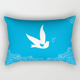 Wings of Love - Blue Rectangular Pillow