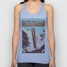 Falls Creek, Northeastern Australia Ski poster, Unisex Tank Top