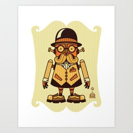 Moustache Bot Art Print