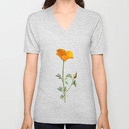 Flower No. 5: California poppy Unisex V-Neck