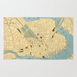 Vintage Map of Boston MA (1890) Rug